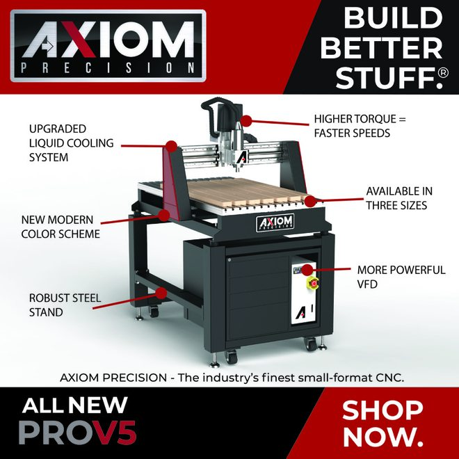Axiom's All New ProV5 now available at Rockler!
