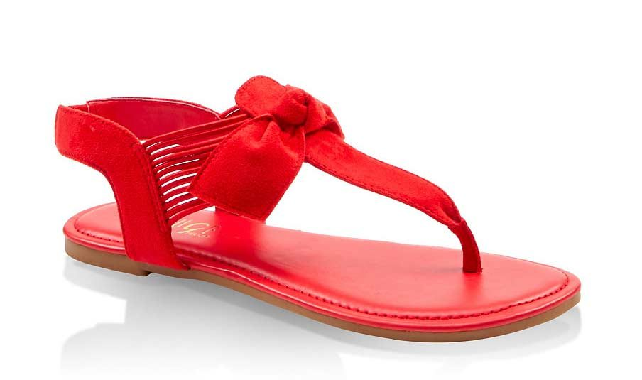 Knotted Bow Thong Sandals