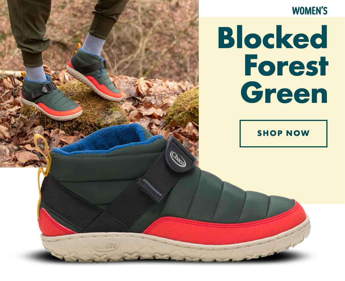 Women's Blocked Forest Green - Shop Now