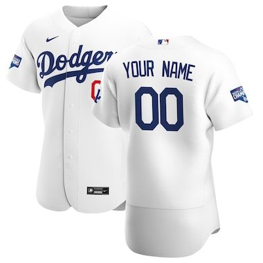 Los Angeles Dodgers Nike 2020 World Series Champions Home Custom Authentic Jersey - White