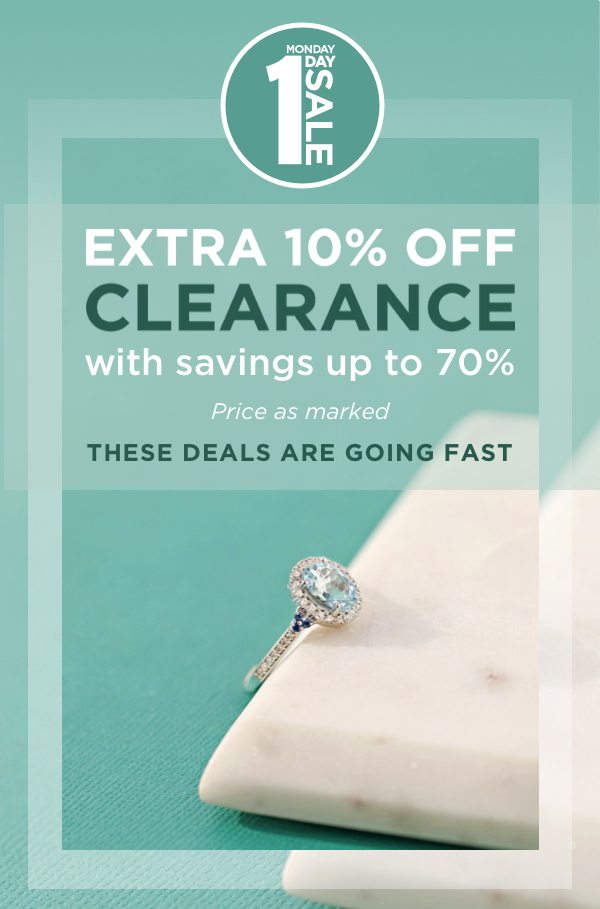 EXTRA 10% OFF CLEARANCE with savings up to 70%!