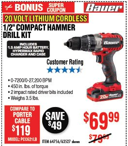 NEW PRODUCT ALERT: The Bauer Power Tools Family is Growing