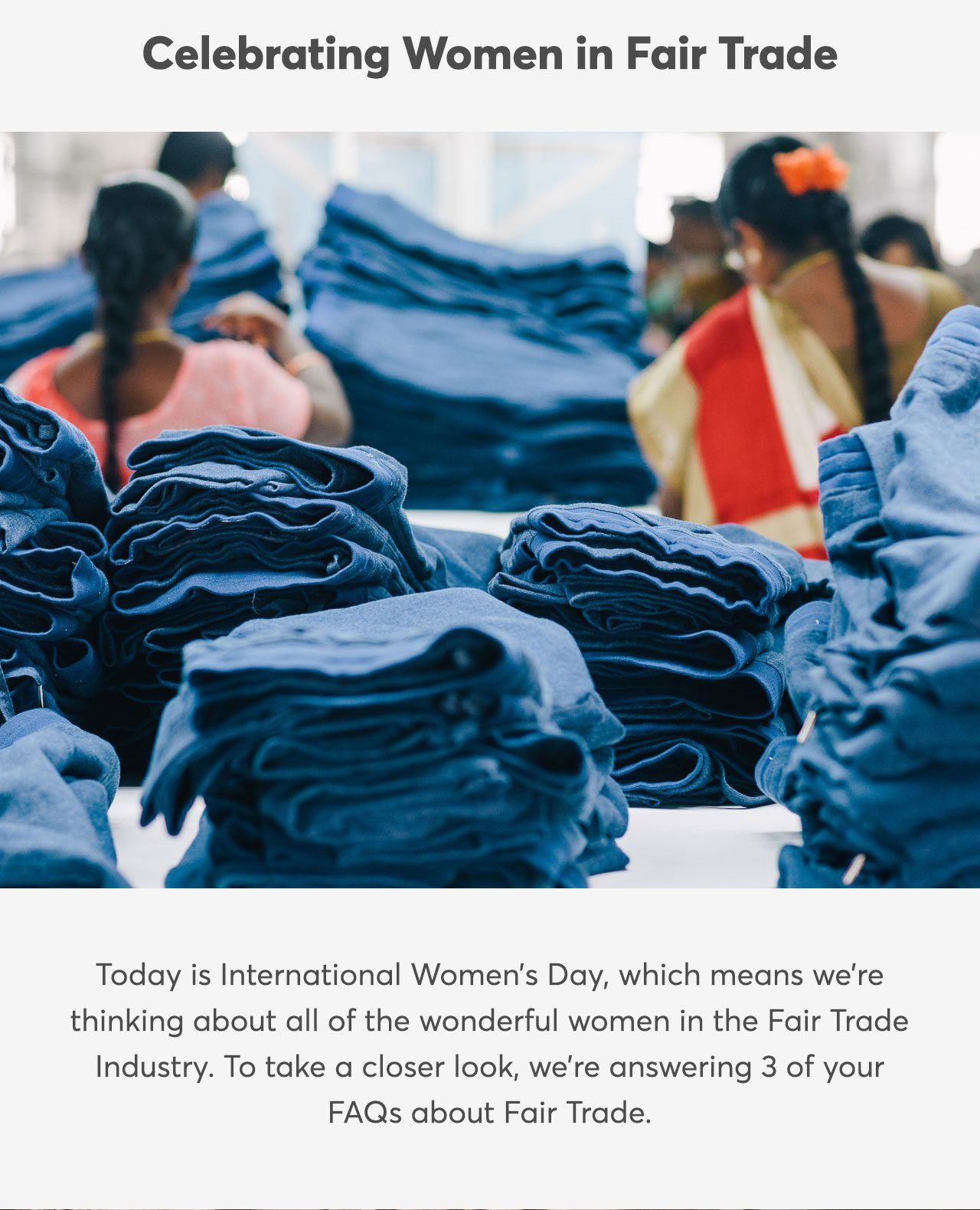 Celebrating Women in Fair Trade