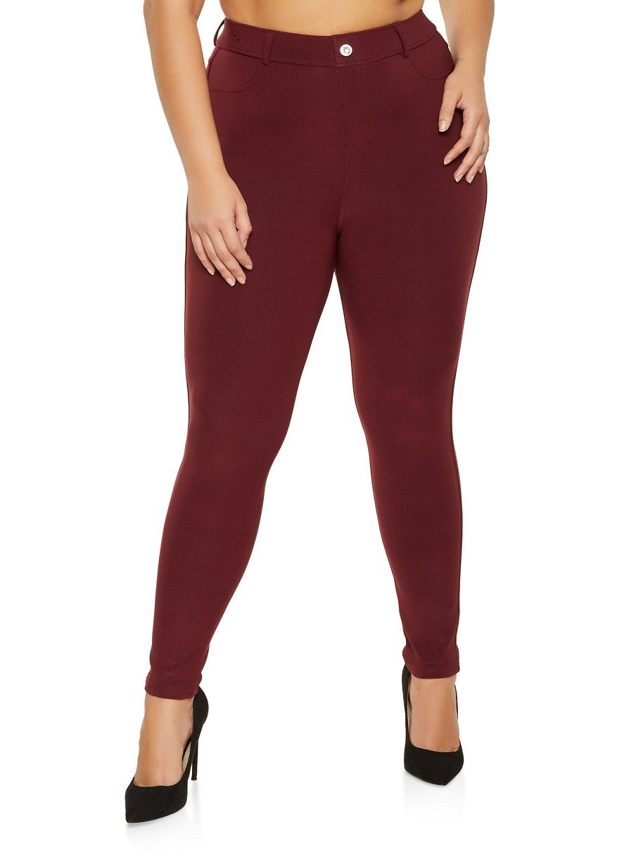 Plus Size Skinny Scuba Pants