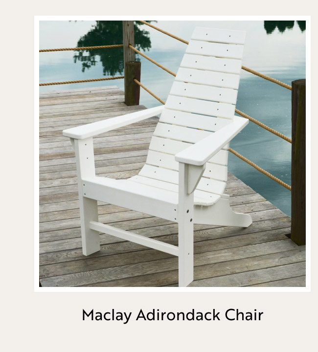 Maclay Recycled Plastic Adirondack Chair