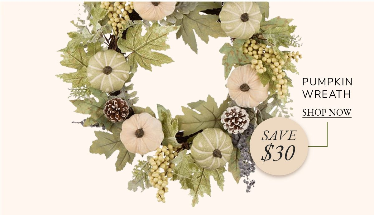 Pumpkin Wreath with Green Leaf and Berries | SHOP NOW