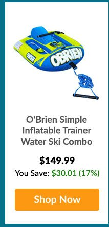 O'Brien Simple Inflatable Trainer Water Ski Combo - Shop Now
