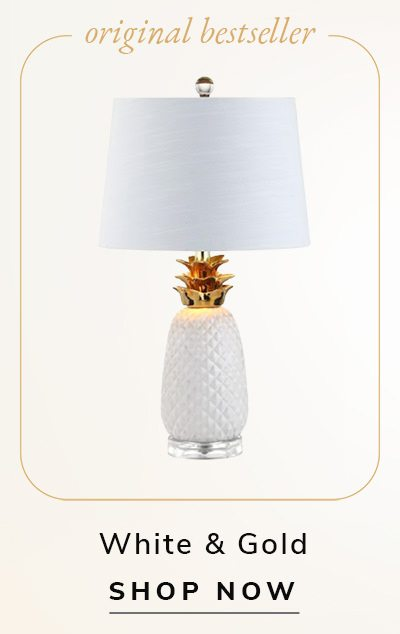 Pineapple Lamp White & Gold | SHOP NOW