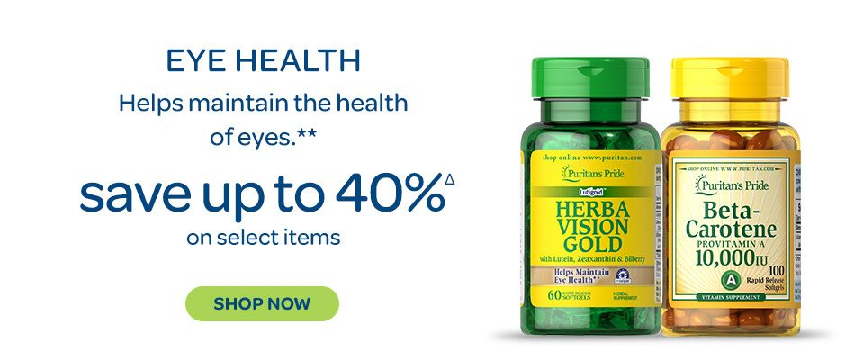 Eye Health - Helps maintain the health of eyes.** Save up to 40%Δ on select items. Shop now.