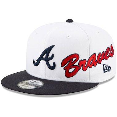 New Era Atlanta Braves White Vintage 9FIFTY Snapback Hat