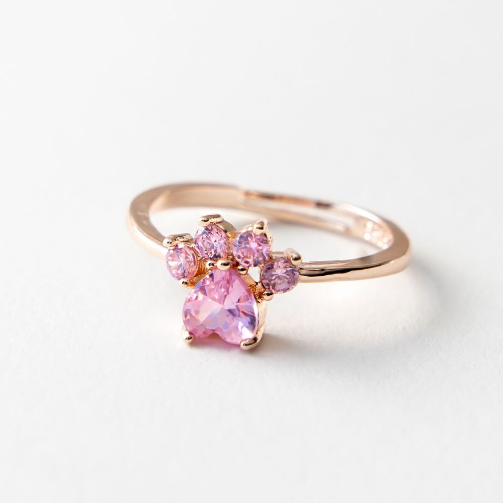 Image of A Dog Mom's Heart Paw Gold Ring 💕- Deal 99% Off!