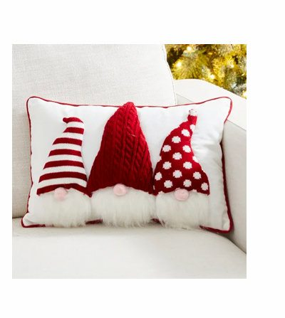 Heavy Cotton Knitted 3D Gnome Pillow | SHOP NOW