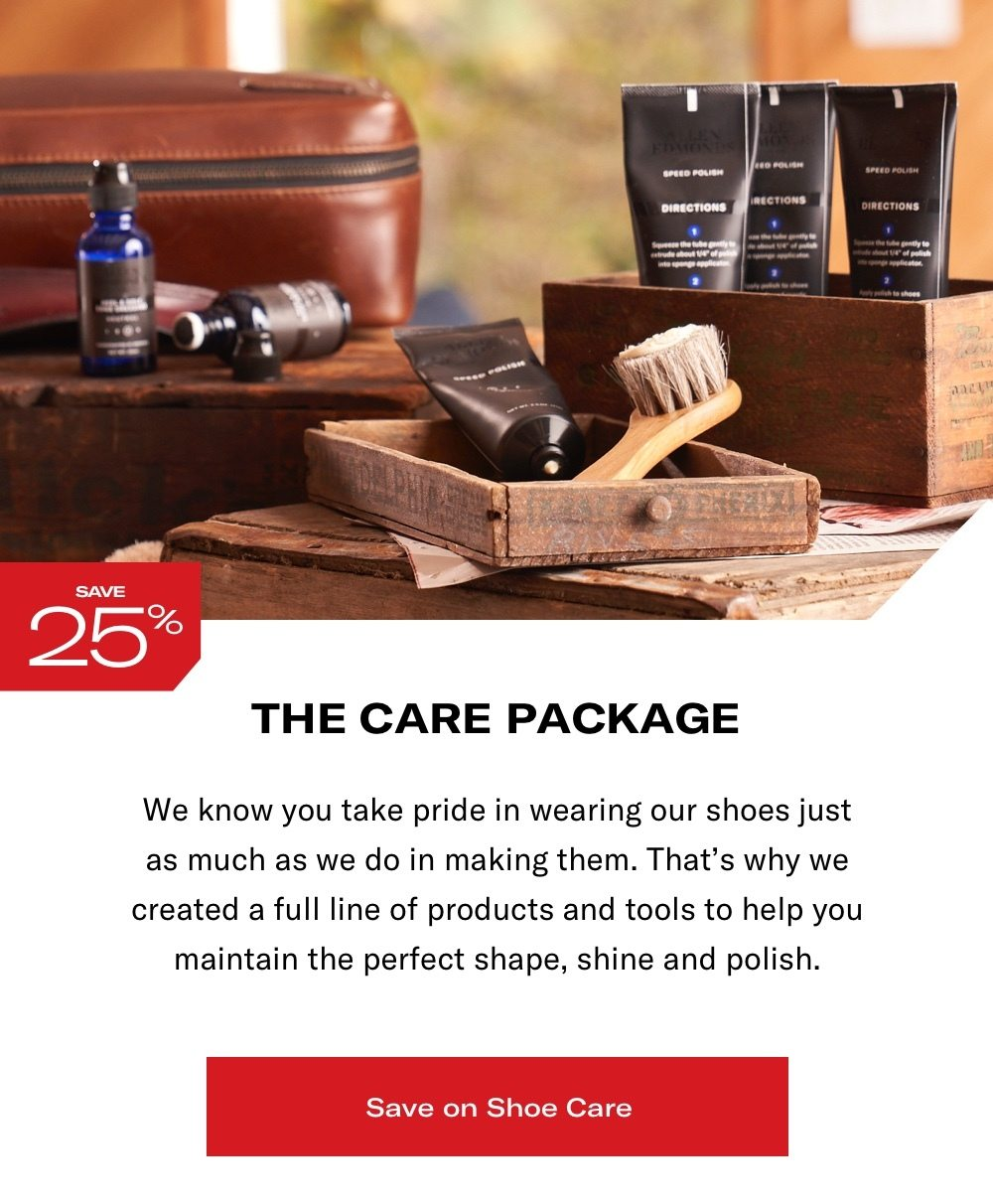Save Up To 25% on Shoe Care