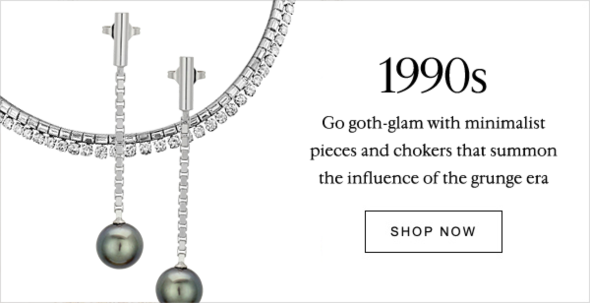 1990s Go goth-glam with minimalist pieces and chokers that summon the influence of the grunge era | SHOP NOW