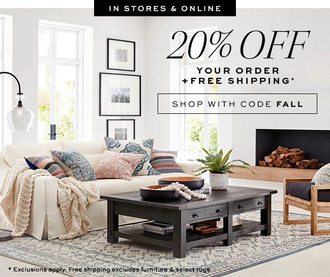 20% OFF YOUR ORDER + FREE SHIPPING* use code FALL