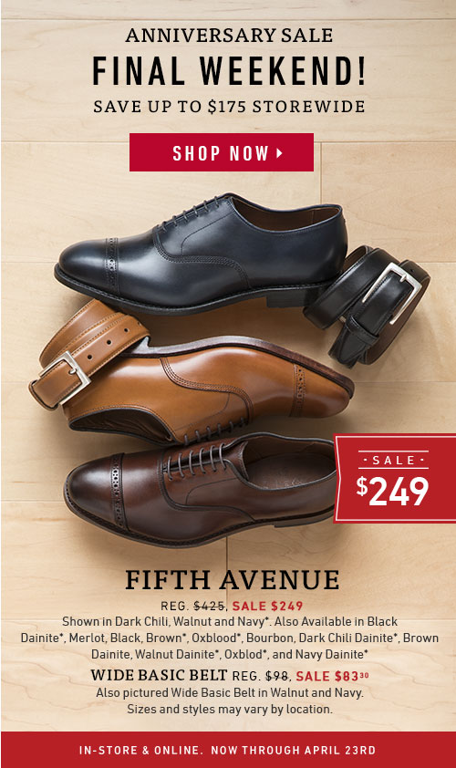 Fifth Ave now $249