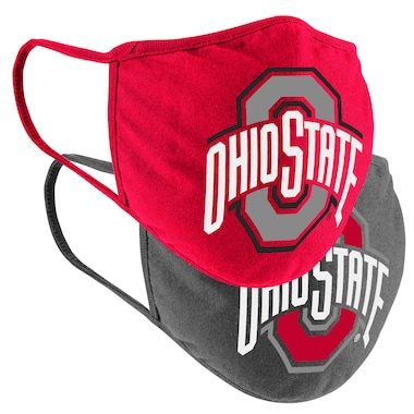 Ohio State Buckeyes Colosseum Adult Face Covering 2-Pack