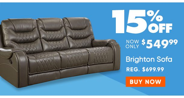 15% off Brighton Sofa