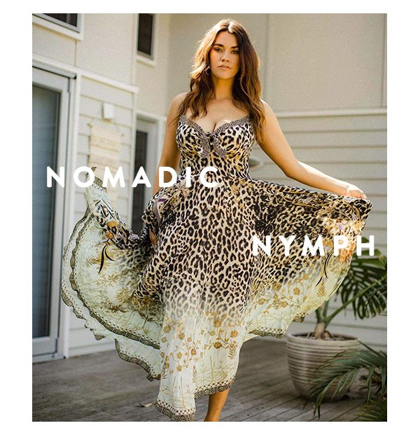 Nomadic Nymph | Long Dress With Tie Front