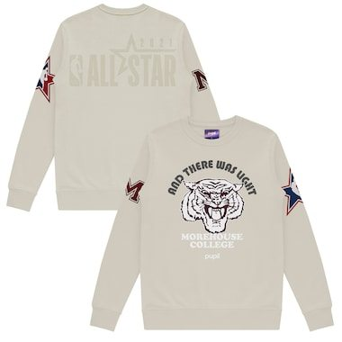 Pupil Morehouse College Cream 2021 NBA All-Star Game x HBCU Collection Mantra Pullover Sweater