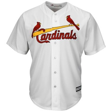 Majestic St. Louis Cardinals White Official Cool Base Jersey