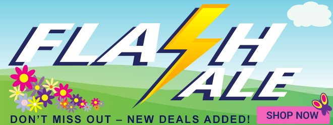 Flash Sale! New Deals Added, shop now!