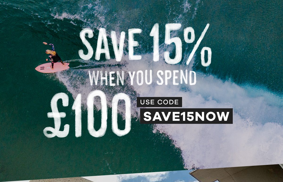 Save 15% when you spend £100 | Code: SAVE15NOW