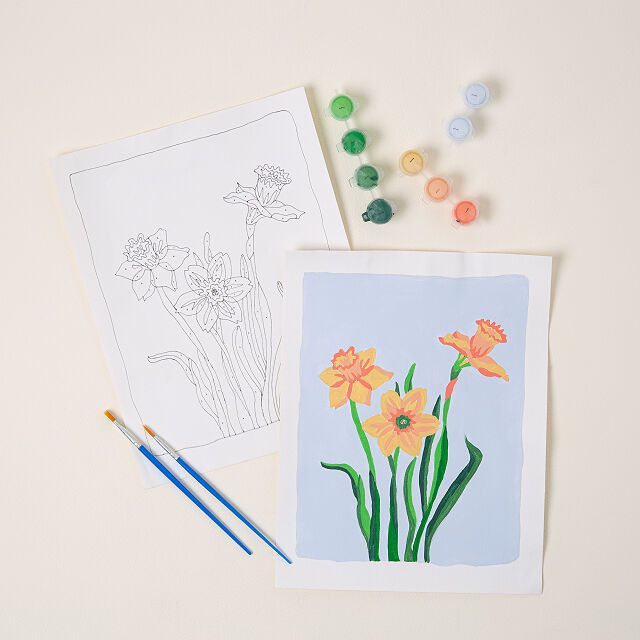 Birth Month Flower Paint-by-Number Kit
