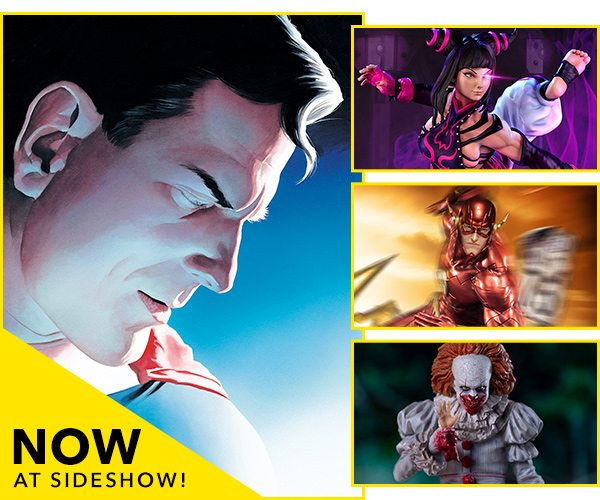 Now Available at Sideshow - Superman, Juri, The Flash, Pennywise
