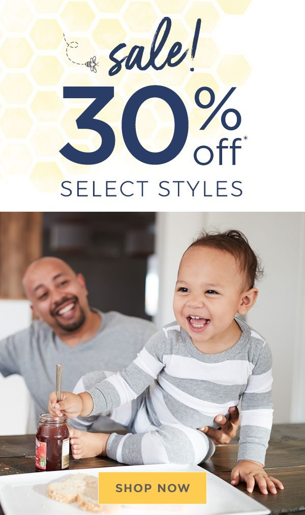 Sale! 30% off select styles!