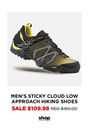 Men's Sticky Cloud Low Approach Hiking Shoes - Click to Shop