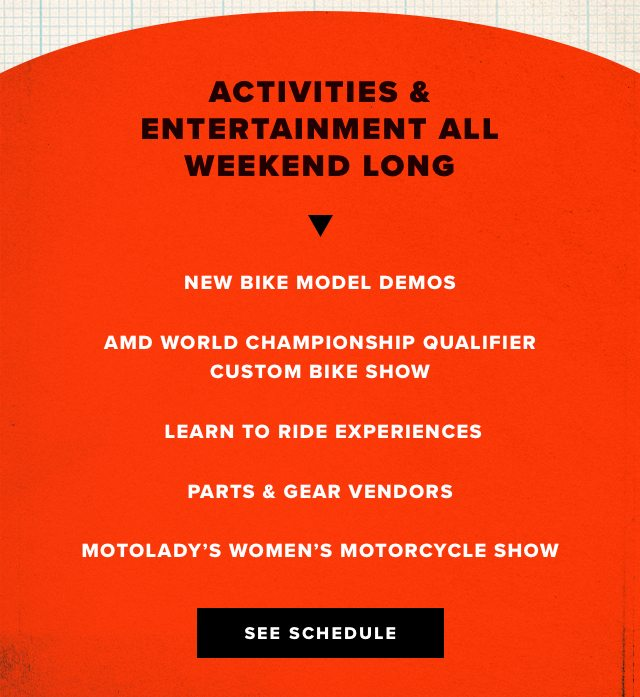 Activities & Entertainment All Weekend Long