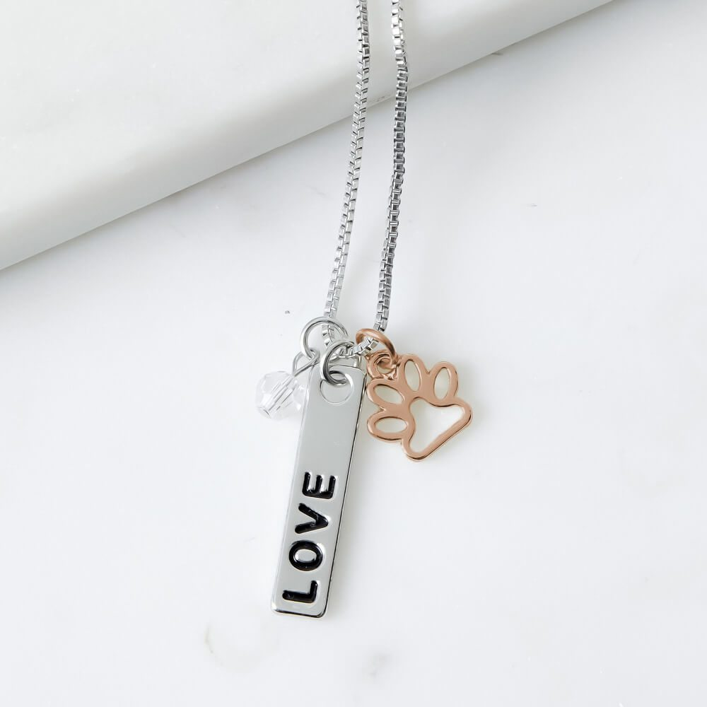 Image of Foundation of LOVE Three Charm Necklace