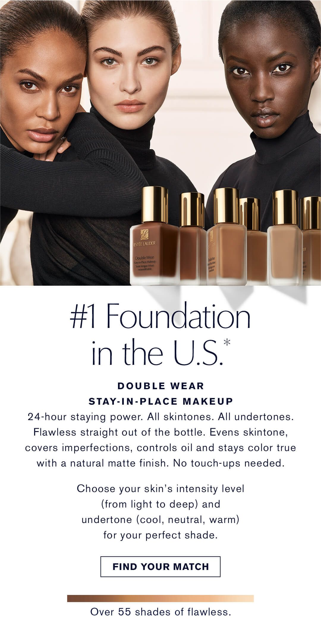 #1 Foundation in the U.S. | Double Wear Stay-In-Place Makeup