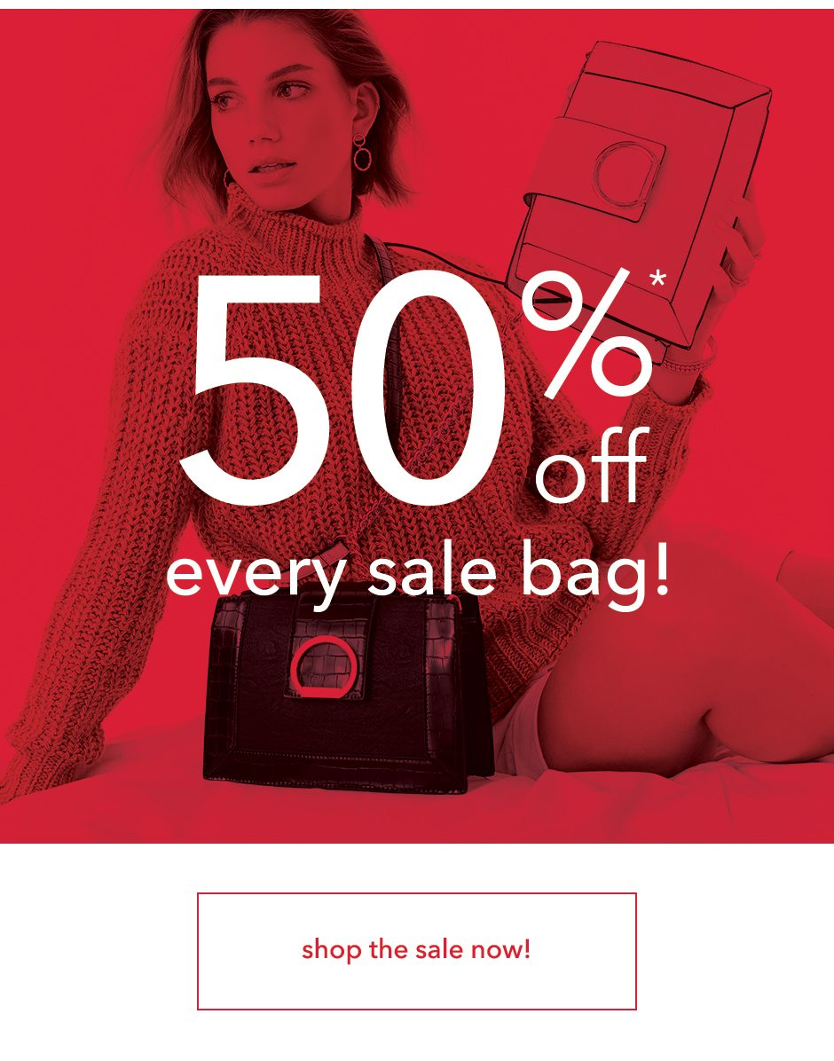 50% off every sale bag!