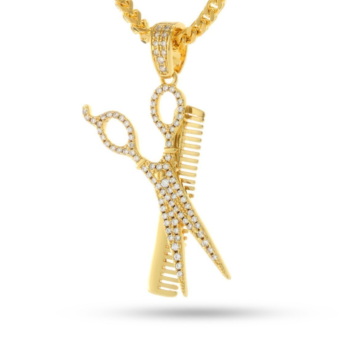 Image of Comb and Scissors Necklace