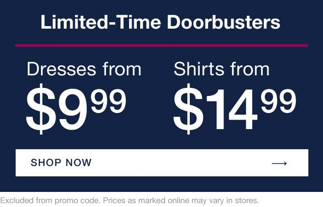 LIMITED-TIME DOORBUSTERS