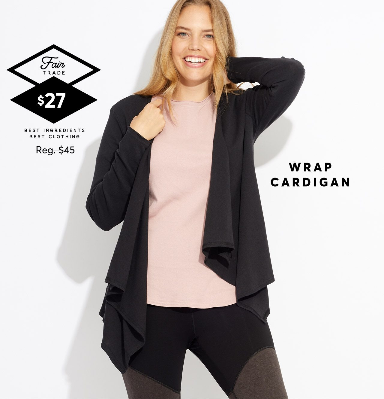 Wrap Cardigan, regular $45, now $27