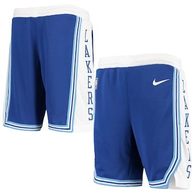 Los Angeles Lakers Nike Youth Hardwood Classics Swingman Shorts - Royal