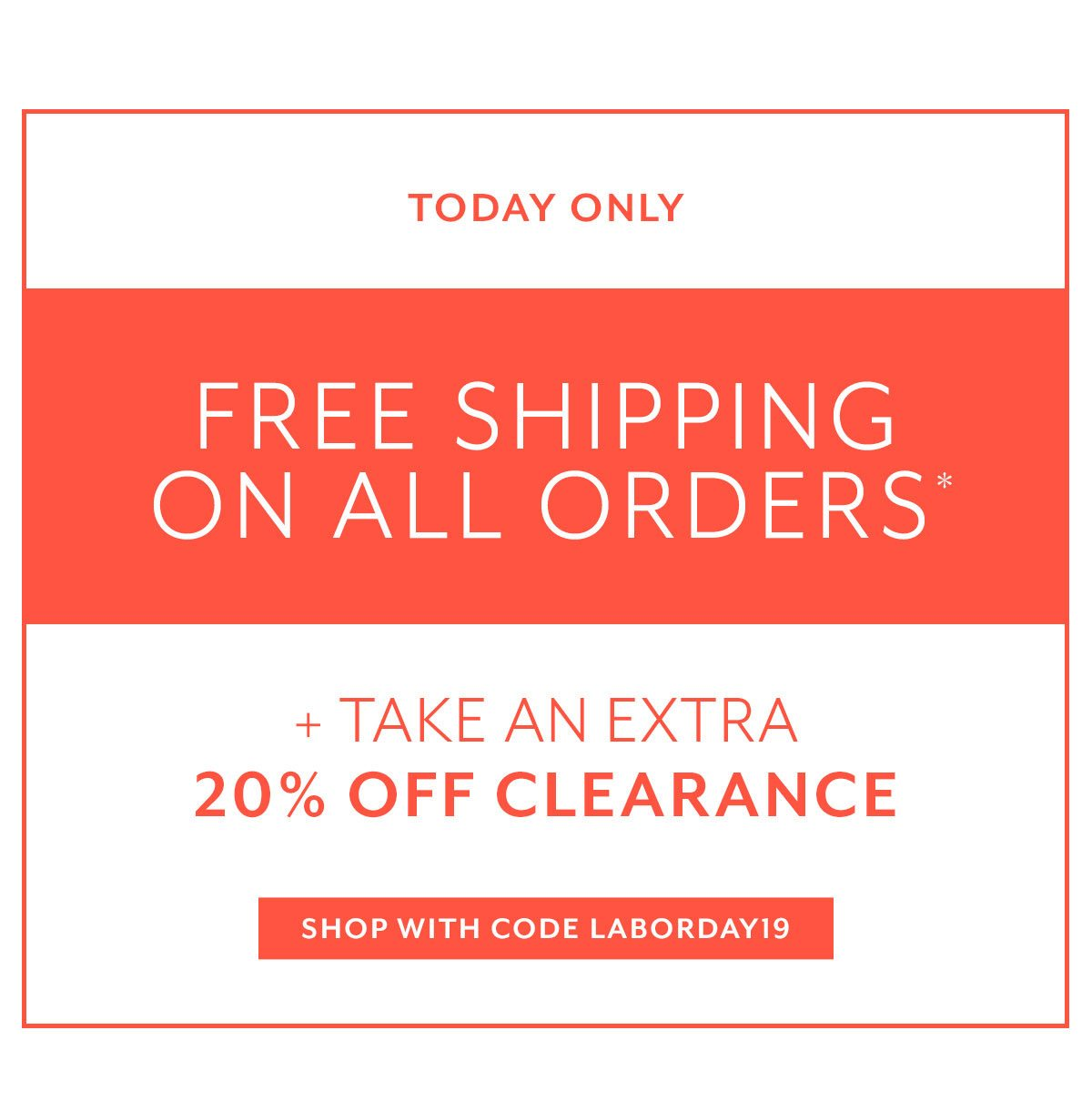 Labor Day Sale + Extra 20% Off Clearance