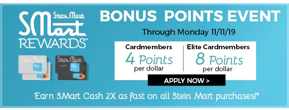 earn double the points through 11/11/19