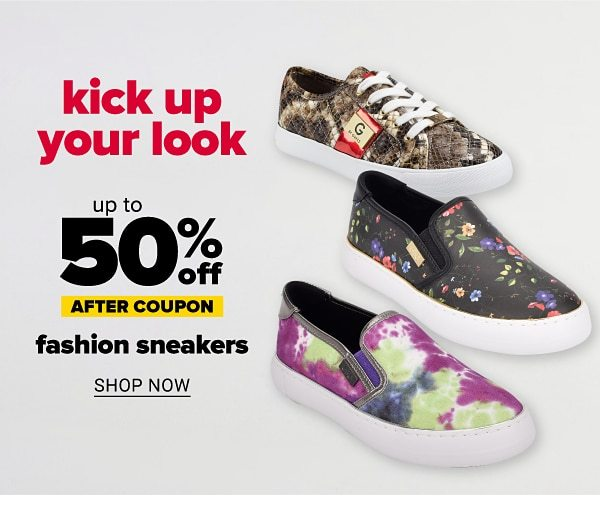 Kick up your look - Up to 50% off fashion sneakers after coupon. Shop Now.