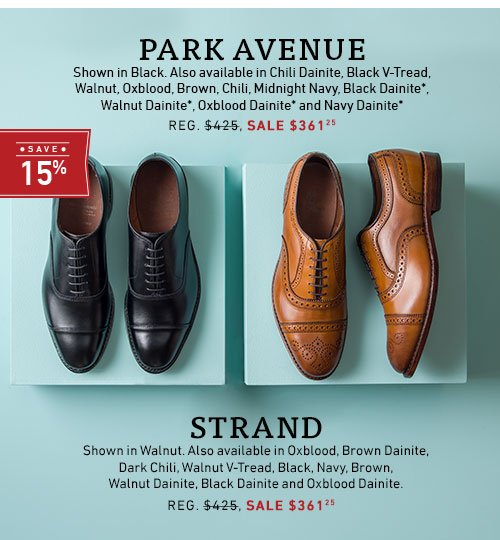 Save %15 on Park Avenue and Strand