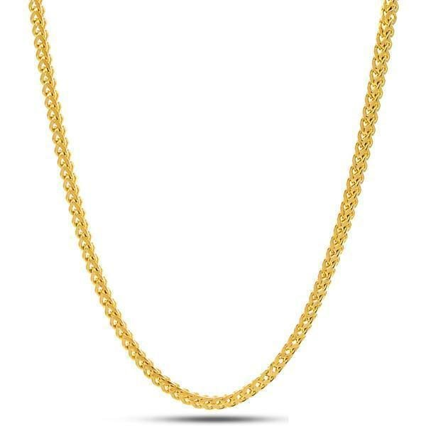 2.5mm 14K Gold Stainless Steel Franco Chain