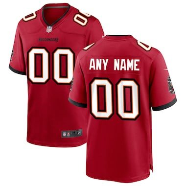 Nike Tampa Bay Buccaneers Custom Game Jersey - Red