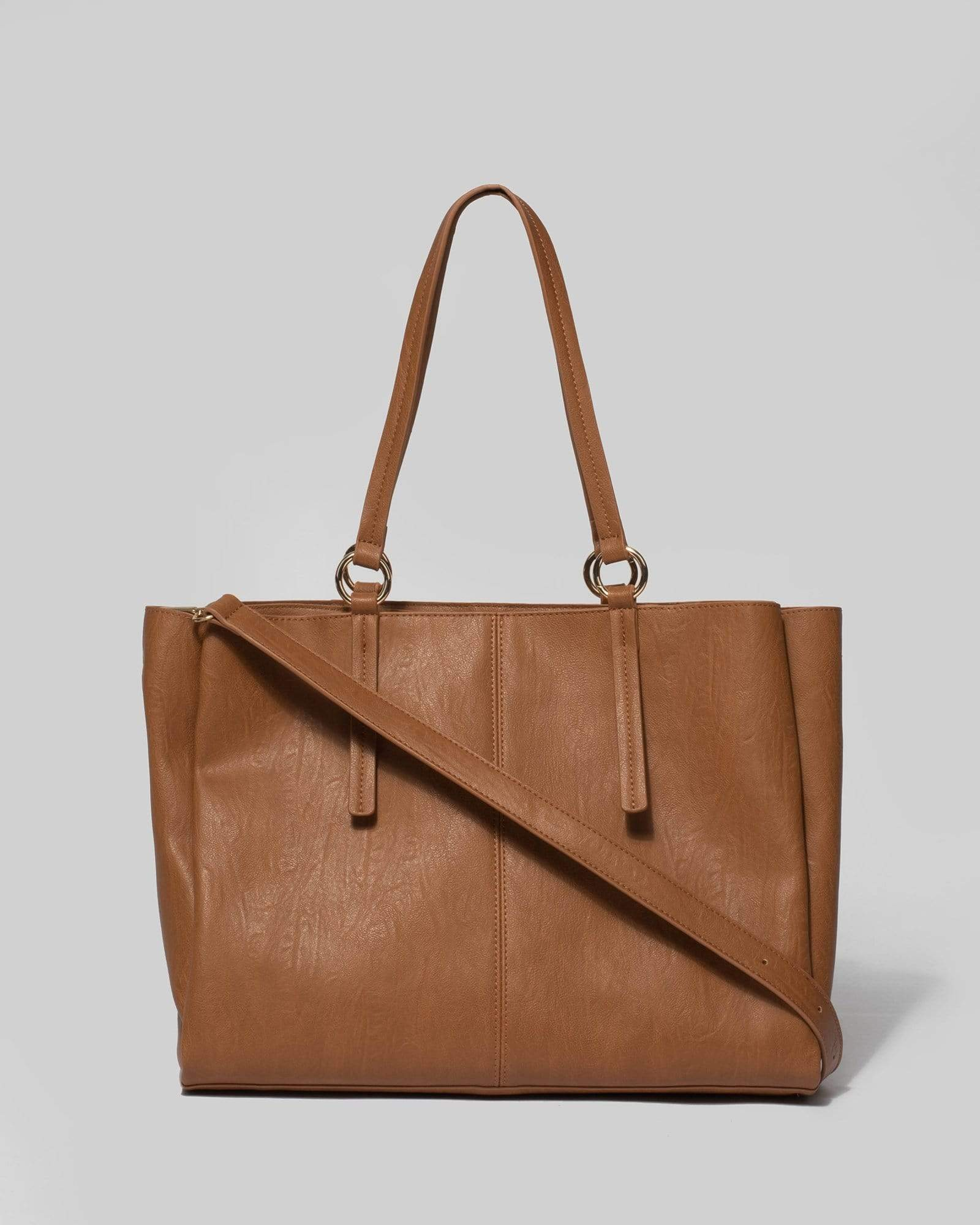 Image of Tan Stacey Ring Tote Bag