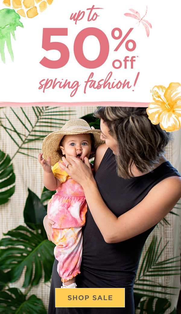 Up to 50% off spring fashion!