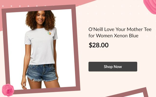 O'Neill Love Your Mother Tee for Women Xenon Blue