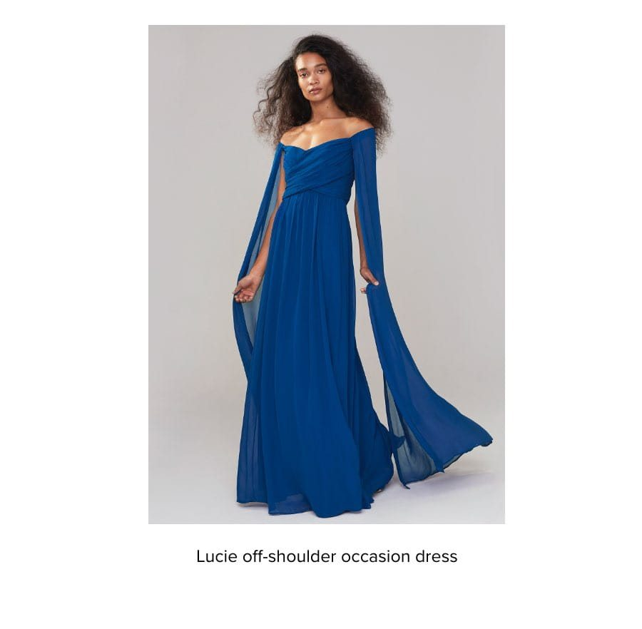 LUCIE OFF-SHOULDER OCCASION DRESS