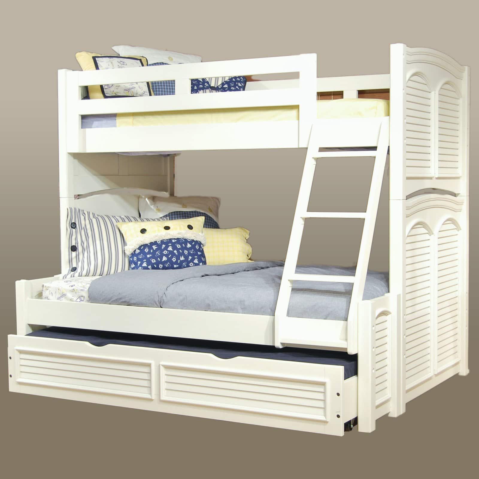Cottage Traditions Twin over Full Bunk Bed - Eggshell White